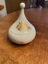 Vintage Rosenthal Studio Line - Gold And White Teardrop With Lid
