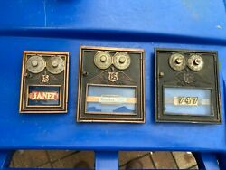 Assorted Mixed Vintage Corbin Us Eagle Brass Post Office 2 Dial Door Boxes