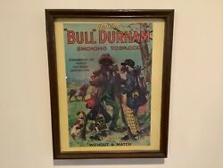 Vintage Bull Durham Smoking Tobacco Ad Poster quot;Without a Matchquot; 15x12