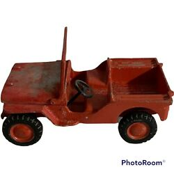 1940's Al Toys Before Oglesby Cast Aluminum Willy's Jeep,, All Original Vintage
