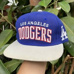Vtg Los Angeles Dodgers Wool Starter Arch Snapback Hat Cap 90s The Natural Rare