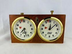 Vintage A.p.f.y. Rolland Wood And Plastic Chess Clock Works