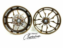 360 Fat Tire Root Beer Contrast Recluse Wheels 2004-2008 Yamaha Yzf R6