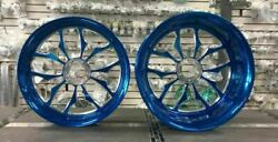 Candy Blue Stock Size Recluse Wheel Package For 2008-2011 Honda Cbr1000