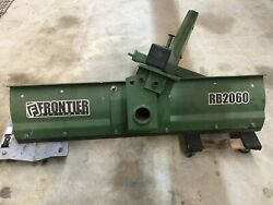 Used Frontier Rb 2060 60 Inch 3pt Tractor Blade.  Used Very Little.