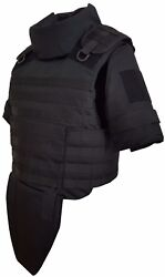 Black Size S Full Body Armor Plate Carrier Molle Vest 3a Kevlarr Included