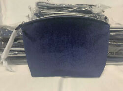 Lots of 20 Lancome Blue Velet Shimmer Makeup Bags Cosmetic Cases Travel Purse $19.90