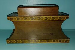 Vintage Pipe And Humidor Stand Holds 6 Pipes