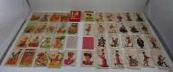 Vintage Old Maid Card Games Whitman 3009 And E.e. Fairchild Cards Complete
