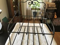 Longaberger 14 Wrought Iron Paper Tray Basket Stand Metalworks Shelf Foundry