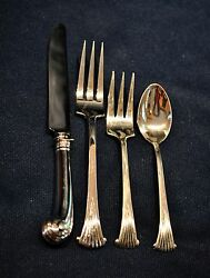 Onslow By Tuttle Sterling For 4 Sterling With 4 Pieces Per Setting Flatware