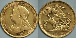 Australia 1896 Melbourne Half Sovereign - About Extremely Fine