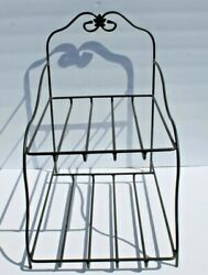 Longaberger Wrought Iron Paper Tray Basket Stand Metalworks Shelf Foundry