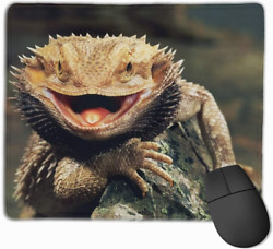Bearded Dragon Lizards Mouse Pad Non Slip Rubber Gaming Mouse Mat Rectangle for