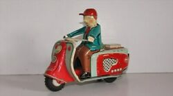 Rabbit Scooter Tin Friction Bike Toy Made In Jp Motorcycle Usagiya From Japan