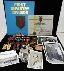 Vietnam U.s.army Warrant Officer Group 1st Infantry Division 1965-67 Big Red One