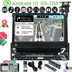 Android 10 Single 1din Car Dvd Player Gps Tv Detachable Screen Stereo Dab 7 Ccd