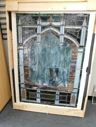 294/227 Antique Stained Glass Window From New Orleans Church 40.75 W X 57 H