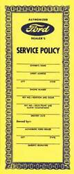 Macs Auto Parts Service Policy - Ford Pickup Truck 47-47571-1