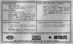 Macs Auto Parts Ford Pickup Truck Service Specifications Decal 48-47077-1
