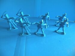 Marx British Plastic Soldiers Lot Of 7 Toy Figures Reproductions R6