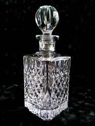 Rare Waterford Irish Crystal Kelsey Square Decanter W/stopper 11 Mint Htf