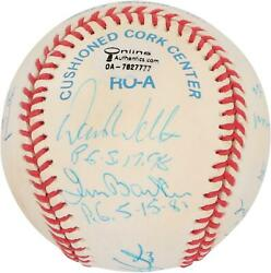 Mlb Perfect Game Pitchers Signed Toned Ball With 12 Sigs And Inscs - Psa V06196