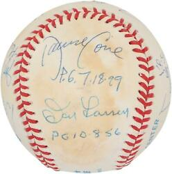 Mlb Perfect Game Pitchers Signed Toned Ball With 12 Sigs And Inscs - Psa V06195