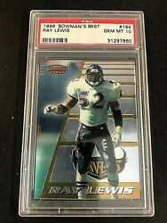 Ray Lewis 1996 Bowmanand039s Best Rookie Card 164 Psa 10 Gem Mt Baltimore Ravens