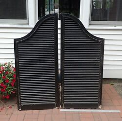 Pair Large Architectural Salvage Bell Tower Wood Louvers Architecture Shutters