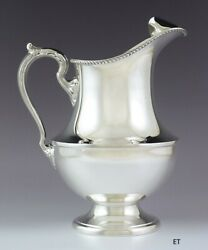 Handsome Vintage 1950s Poole Sterling Silver Georgian Large Size Water Pitcher