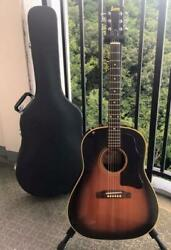 Burny Bj-60 Acoustic Guitar Single Plate With Hard Case Rare Used Good Condition