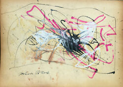 Jackson Pollock Drawing Signed Inch11.61x16.41