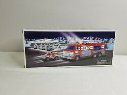 Hess Truck Emergency Fire Truck With Rescue Vehicle - 2005 New In Box