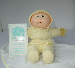 1986 Cabbage Patch Kid Babies Baby Bbb Bean Butt Hm4 Green Eyes Pacifier