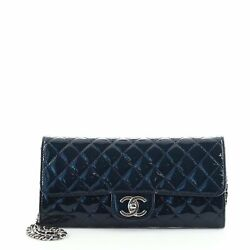 Wallet On Chain Clutch Quilted Patent East West
