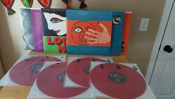 Elvis Costello Vinyl Records - Look Now And Hey Clockface - Transparent Red