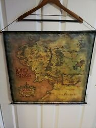 Lord Of The Rings Fellowship Of The Ring Hanging Tapestry Map