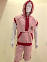 Dolce And Gabbana Menandrsquos Sleeves Less T-shirt With Hoodie And Shorts Size M