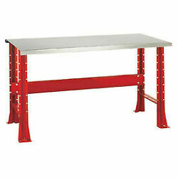 Shureshopand174 Bench Stainless Steel Top 72 X 29 Carmine Red