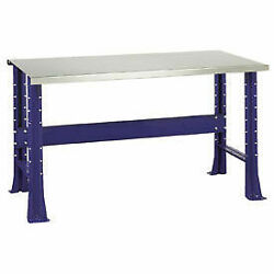 Shureshopand174 Bench, Stainless Steel Top, 72 X 29, St.louis Blue