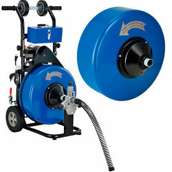 Drain Cleaner For 4-9 Pipe W/5/8 And 3/4 X 100' Cables And Drums