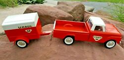 Vintage Nylint U-haul Ford F100 Twin I Beam Suspension Pickup Truck And Trailer