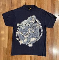 Vintage 1996 Jerry Leigh Space Jam Bugs Lola Bunny Tune Squad Promo Tee L