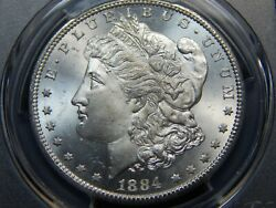 1884-cc 1 Morgan Dollar Ms-65+ Pcgs/cac, White Great Coin