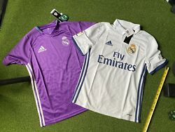 Nwt Adidas Real Madrid Soccer Jersey Set Youth Large Purple White