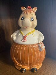VINTAGE FROM THE 40S HORSE DOCTOR CERAMIC COOKIE JAR. MADE IN JAPAN. SO CUTE