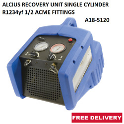 Alcius Recovery Unit Single Cylinder R1234yf 1/2 Acme Fittings A18-5120