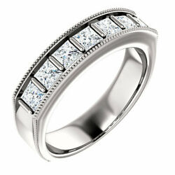 G-h Si2-si3 Diamond Menand039s Wedding Band In 14k White Gold 1 3/8 Ct. Tw