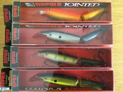 Rapala Set Of 4 Jointed Floating Lures - 13cm - 18g.